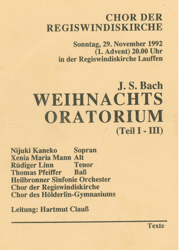 1992-11-29 Weihnachtsoratorium