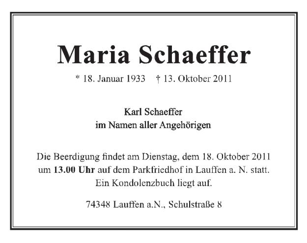 2011 Maria Schäffer