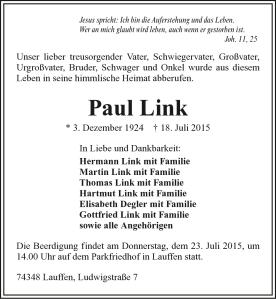 Anzeige-Paul-Link